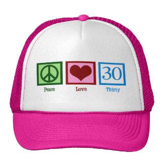 Peace Love 30 Mesh Hats