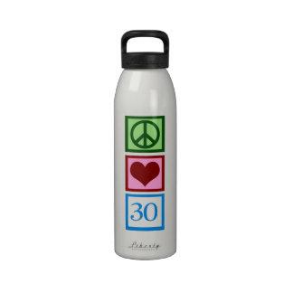 Peace Love 30 Water Bottle