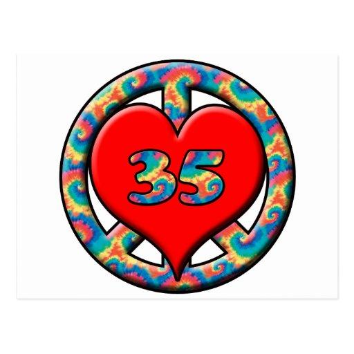 Peace, Love, 35 Postcard