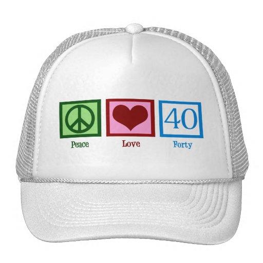 Peace Love 40 Mesh Hats