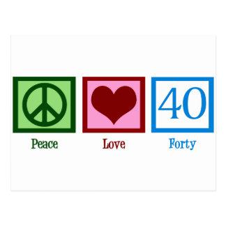 Peace Love 40 Postcard