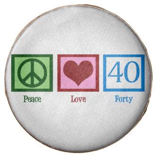 Peace Love 40 Chocolate Covered Oreo