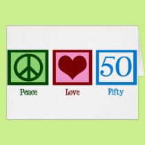 Peace Love 50 Card