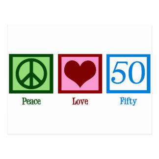 Peace Love 50 Postcard