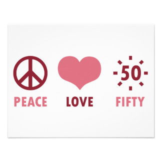 Peace Love 50th Birthday Gifts Custom Announcements