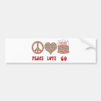 Peace Love 60 Car Bumper Sticker