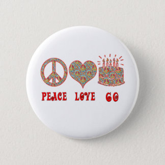 Peace Love 60 Pinback Button