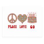 Peace Love 60 Postcard