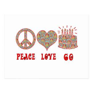 Peace Love 60 Postcard