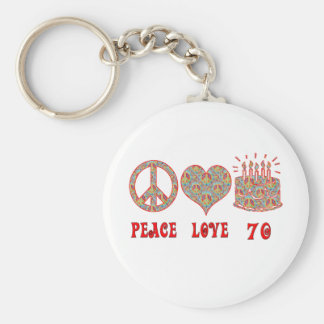 Peace Love 70 Keychain