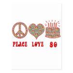 Peace Love 80 Postcard