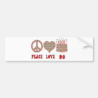 Peace Love 90 Bumper Sticker