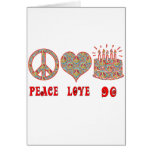 Peace Love 90 Greeting Cards