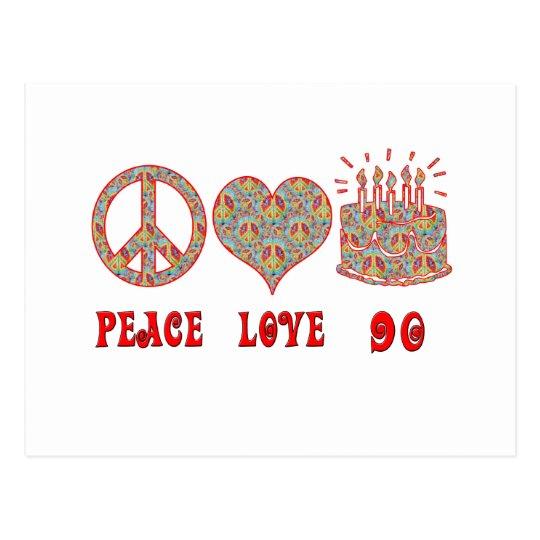 Peace Love 90 Postcard