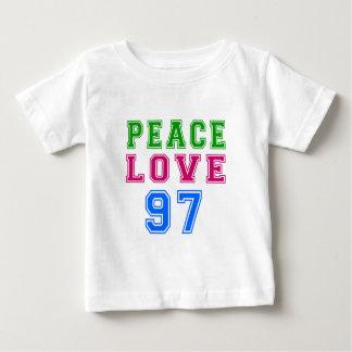 Peace Love 97 Birthday Designs Infant T-shirt