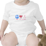 peace, love & a cure tshirt