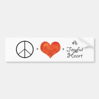 Peace, Love & a Joyful Heart Bumper Sticker