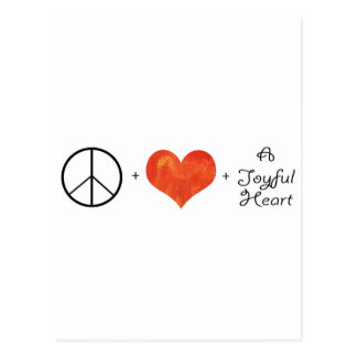 Peace, Love & a Joyful Heart Postcard