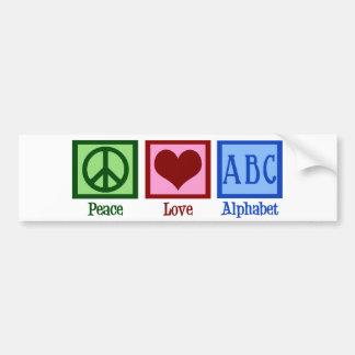 Peace Love ABC's Car Bumper Sticker