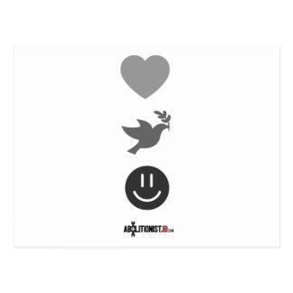 Peace, Love, Abolition Postcard