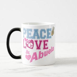 Peace Love Abuela Magic Mug