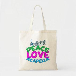 Peace Love Acapella Budget Tote Bag