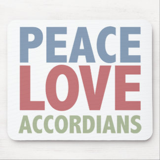 Peace Love Accordians Mouse Pad
