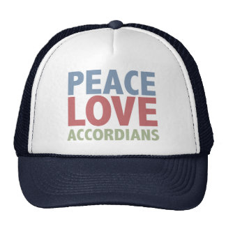 Peace Love Accordians Trucker Hat