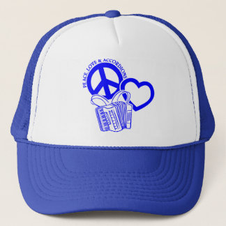 PEACE, LOVE & ACCORDIONS TRUCKER HAT