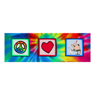 Peace, Love, Accountants Poster