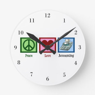Peace Love Accounting Clocks