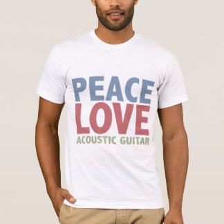 Peace Love Acoustic Guitar T-Shirt