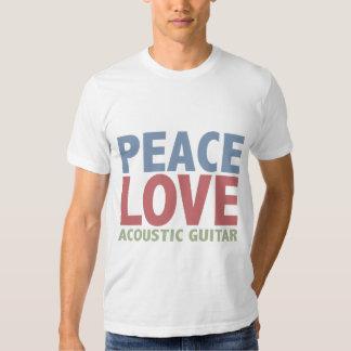 Peace Love Acoustic Guitar Tee Shirt