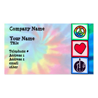 Peace, Love,  Acoustic Guitars Double-Sided Standard Business Cards (Pack Of 100)