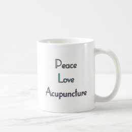 Peace, Love, Acupuncture Coffee Mug