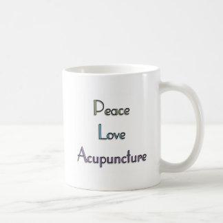 Peace, Love, Acupuncture Coffee Mug