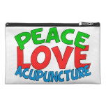 Peace Love Acupuncture Travel Accessories Bag
