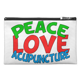 Peace Love Acupuncture Travel Accessory Bag