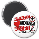 PEACE LOVE ADOPT A Shelter Dog Magnet