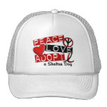 PEACE LOVE ADOPT A Shelter Dog Trucker Hat