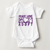 Peace Love Adopt Baby Bodysuit