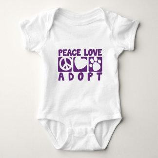 Peace Love Adopt Baby Bodysuit