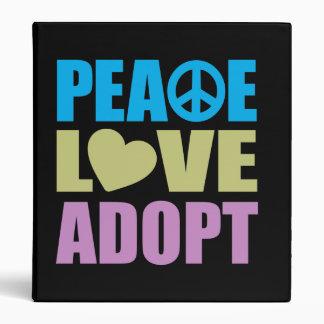 Peace Love Adopt Binder