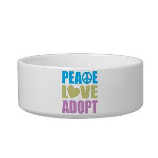 Peace Love Adopt Bowl