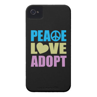 Peace Love Adopt iPhone 4 Case