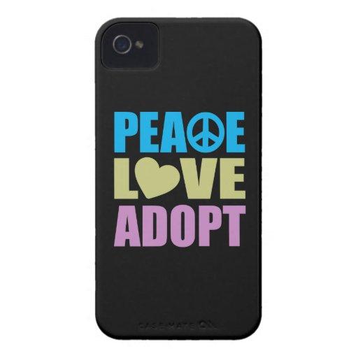 Peace Love Adopt iPhone 4 Cases