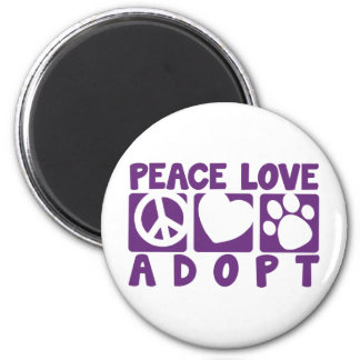 Peace Love Adopt Magnet