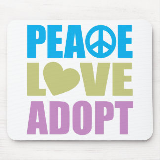 Peace Love Adopt Mouse Pad
