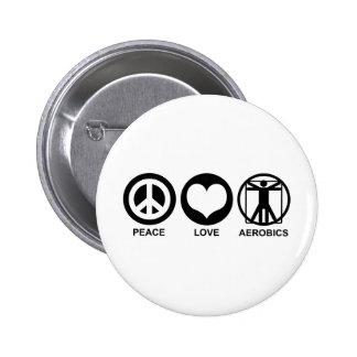 Peace Love Aerobics Buttons