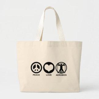Peace Love Aerobics Canvas Bag
